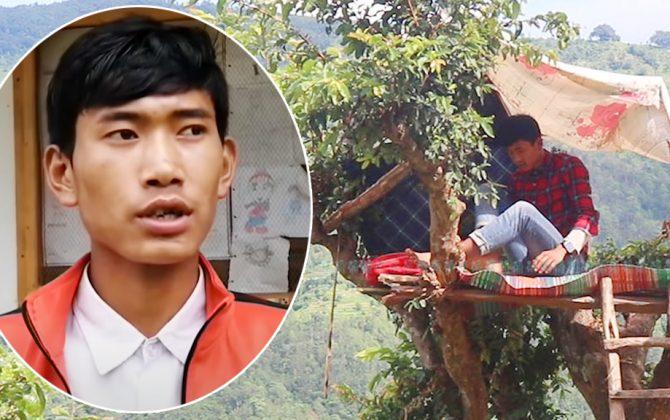 रुखमा डेरा बनाएर यसरी अनलाइन कक्षा लिँदैछन् धनकुमार (भिडियोसहित)